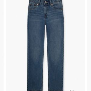 Levi's 550 relaxed fit tapered leg sit below waist